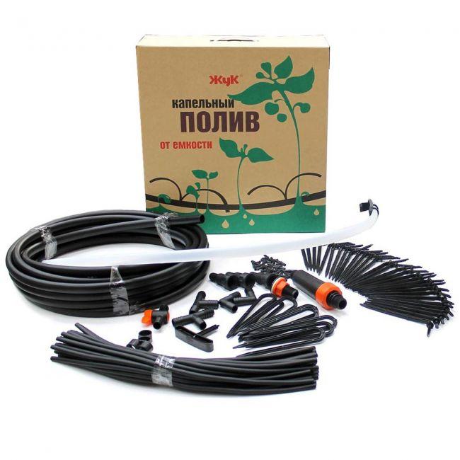 Капельный полив от емкости Жук 30 растений (парниковый)