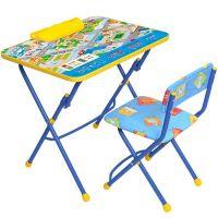 Комплект (стол, пенал, стул мягкий) складной КУ2