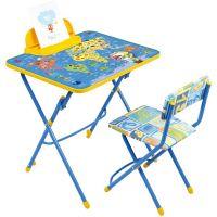 Комплект (стол-парта, пенал, стул мягкий) NIKA КУ3