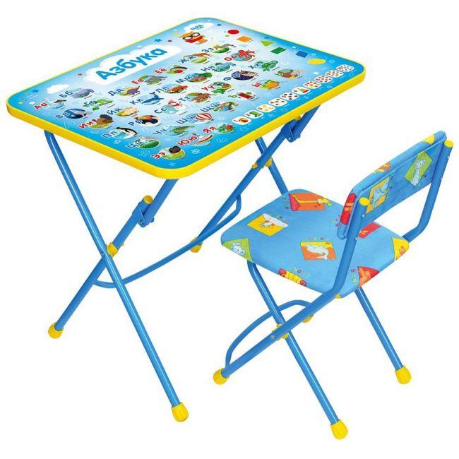 Комплект (стол+стул мягкий) складной с рисунком КУ1