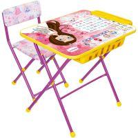 Комплект (стол, пенал, стул мягкий) складной NIKA КУ2П