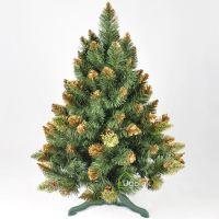 Ель (сосна) новогодняя Снежная Королева с золотым напылением 100 см GrandSITI
