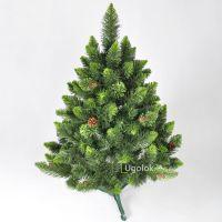 Ель (сосна) новогодняя Снежная Королева с зеленым напылением 100 см GrandSITI