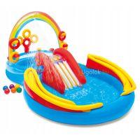 Детский надувной центр-бассейн Intex Радужные кольца (57453NP)