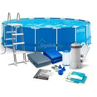 Бассейн каркасный Intex Metal Frame 457x122 см (28242NP)