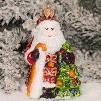 Ёлочная игрушка Дед Мороз (ручная работа)