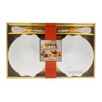 Набор подарочный из фарфора XD-2012-2S (2 салатницы, 2 ложки)