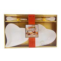 Набор подарочный из фарфора XD-2083-2S (2 салатницы, 2 ложки)