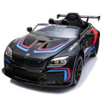 Электромобиль детский BMW M6 GT3 E 668R чёрный