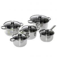 Набор посуды для приготовления Metlex MX8016 (10 предметов)