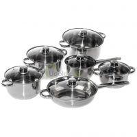 Комплект посуды для приготовления Metlex MX8009 (12 предметов)