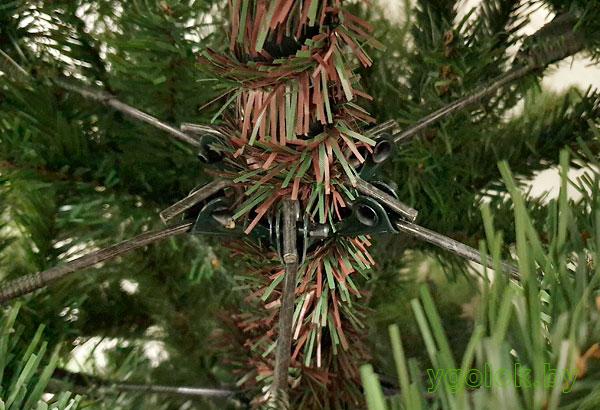 Новогодняя искусственная ёлка Milana с ветками на шарнирах