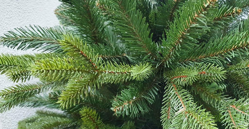 Ветки новогодней искусственной ёлки Сверк с литыми ветками РЕ Корейская