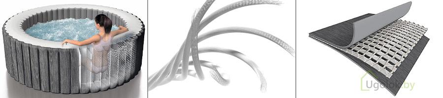 Спа-бассейн Intex 28440 PureSpa Greywood Deluxe с технологией Fiber-Tech